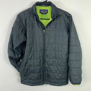 Patagonia Full Zip Quilted Puffer Coat Jacket Sz L